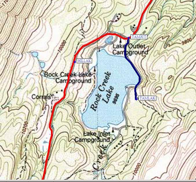 rock creek lake map Rock Creek rock creek lake map